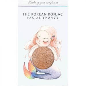 The Konjac Sponge Company Mythical Mermaid Konjac Sponge Box And Hook Pink Clay 30 G
