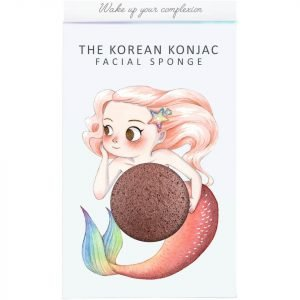 The Konjac Sponge Company Mythical Mermaid Konjac Sponge Box And Hook Red Clay 30 G