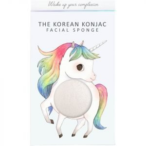 The Konjac Sponge Company Mythical Unicorn Prancing Konjac Sponge Box And Hook White 30 G