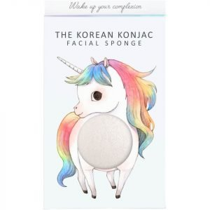 The Konjac Sponge Company Mythical Unicorn Standing Konjac Sponge Box And Hook White 30 G