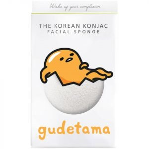 The Konjac Sponge Company Sanrio Gudetama Konjac Sponge Box And Hook White 30 G