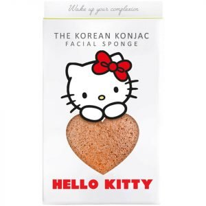 The Konjac Sponge Company Sanrio Hello Kitty Konjac Sponge Box And Hook Pink Clay 30 G