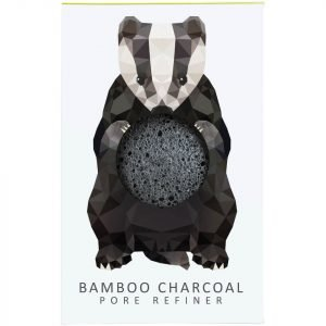 The Konjac Sponge Company Woodland Badger Pure Konjac Mini Pore Refiner Bamboo Charcoal 12 G