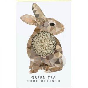 The Konjac Sponge Company Woodland Rabbit Pure Konjac Mini Pore Refiner Green Tea 12 G