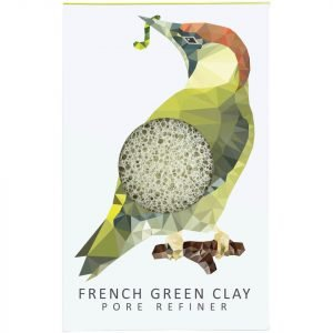 The Konjac Sponge Company Woodland Woodpecker Pure Konjac Mini Pore Refiner Green Clay 12 G