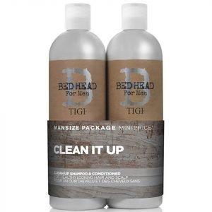 Tigi B For Men Clean Up Tween Duo 2 X 750 Ml