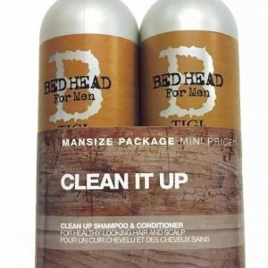 Tigi Bed Head Clean Up for Men Tweens Tuplapakkaus shampoo & hoitoaine 750 ml
