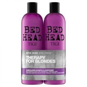 Tigi Bed Head Dumb Blonde Repair Shampoo And Reconstructor For Coloured Hair 2 X 750 Ml