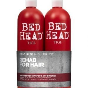 Tigi Bed Head Resurrection Tweens Shampoo Ja Hoitoaine 2 X 750 ml