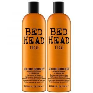 Tigi Bed Head Shampoo & Hoitoaine 2x750 Ml Colour Goddess
