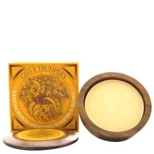 Trumpers Wooden Shave Bowl Sandalwood Normal Skin