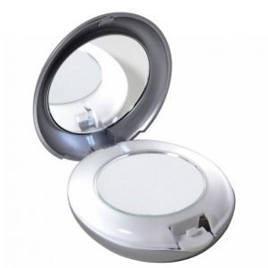 Tweezerman Led Lighted Mirror Compact X1 Taskupeili