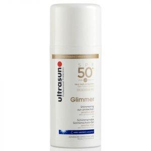 Ultrasun Spf50+ Glimmer Sun Lotion 100 Ml