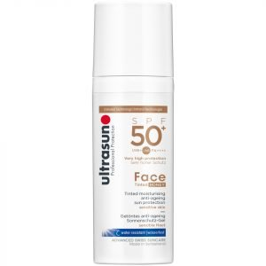 Ultrasun Spf50+ Tinted Face Sun Cream Various Shades Honey
