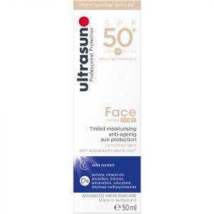 Ultrasun Spf50+ Tinted Face Sun Cream Various Shades Ivory