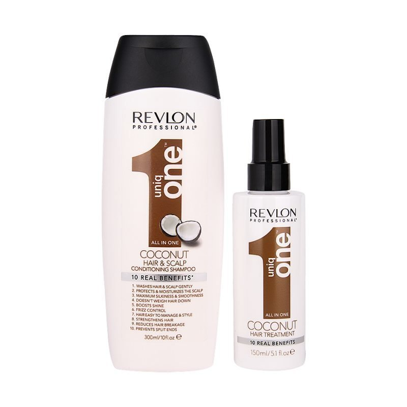 Uniq One All In One Coconut Duo Hair Treatment 150ml Conditioning & Shampoo 300ml