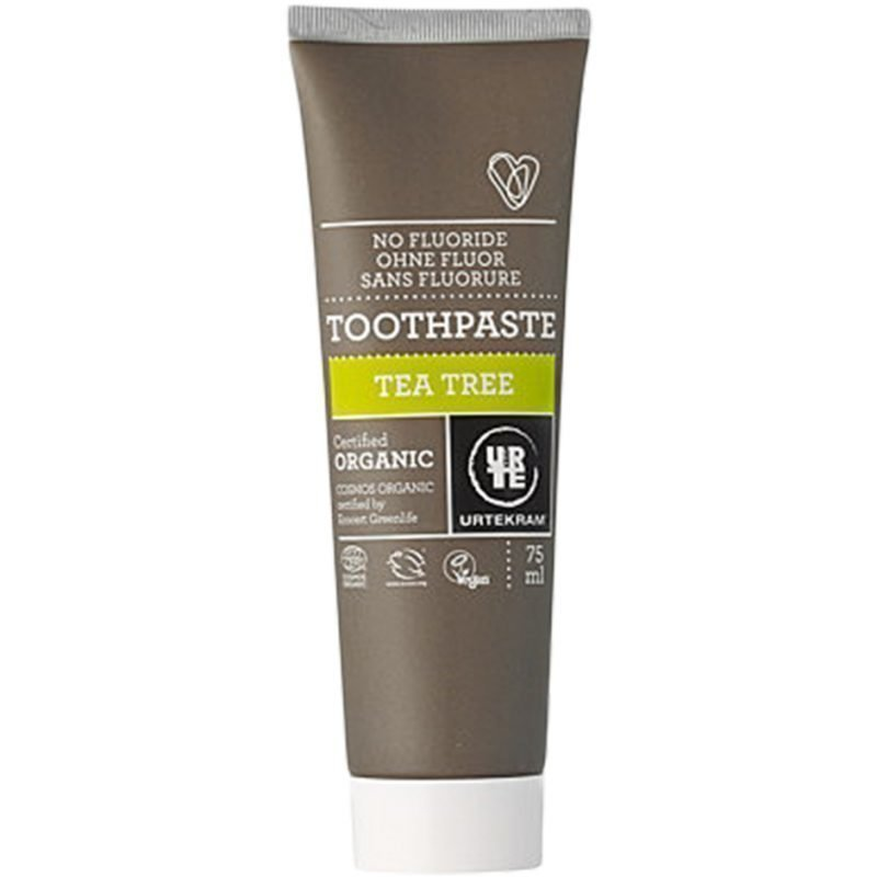 Urtekram Tea Tree Toothpaste With No Fluoride 75ml