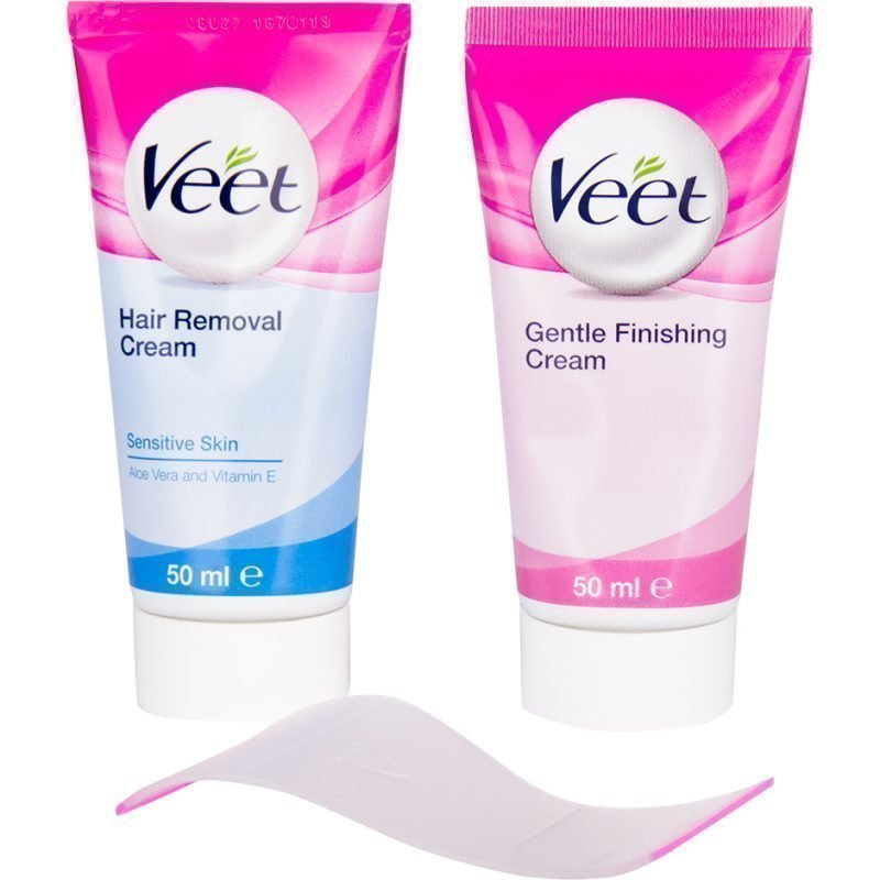 Veet Face Hair Removal Kit Sensitive Skin 2x50ml