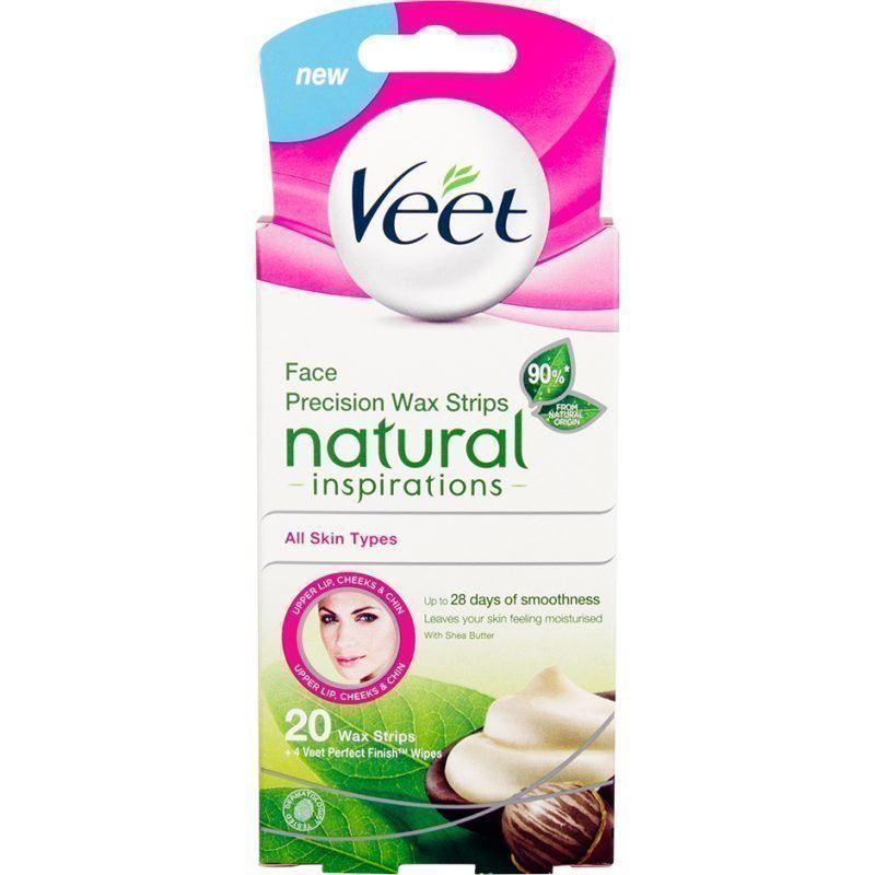 Veet Face Precision Wax Strips Natural Inspirations All Skin Types 20  Wax Strips