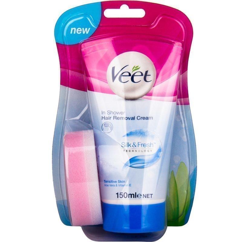 Veet In Shower Hair Removal Cream Sensitive Skin 150ml