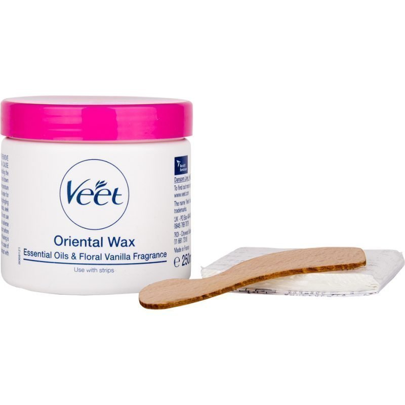 Veet Oriental Wax Essential Oils & Floral Vanilla Fragrance Use With Strips 250ml