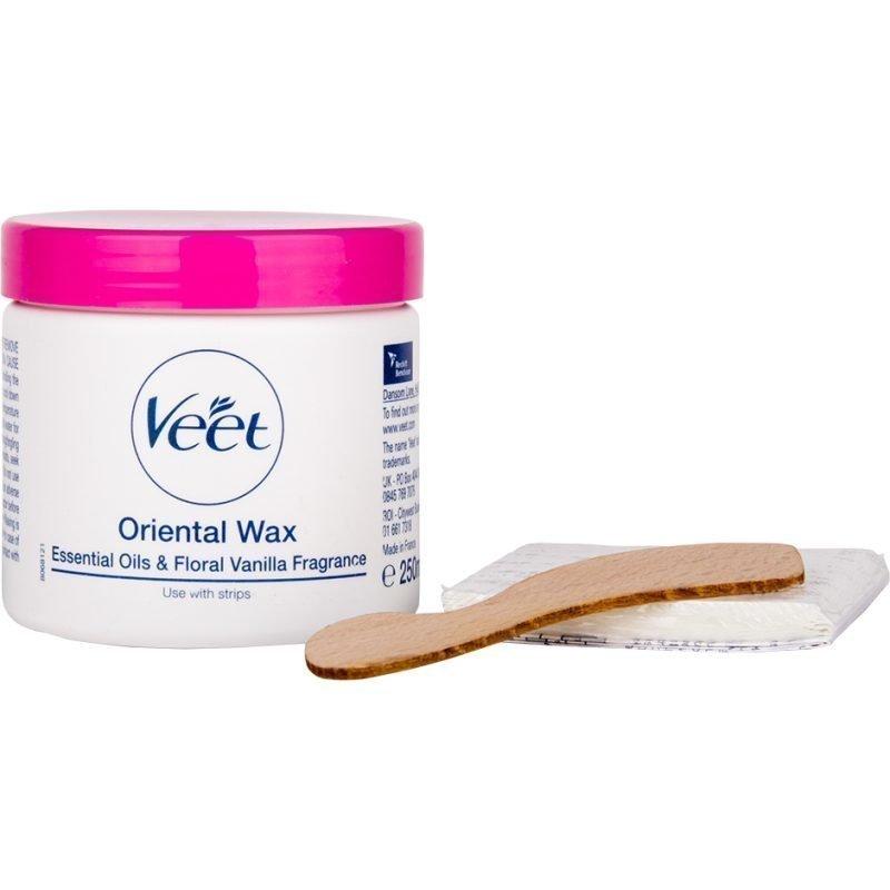 Veet Oriental Wax Essential Oils & Floral Vanilla Fragrance Use With Strips 250ml