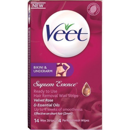 Veet Ready-to-Use Suprem Essence Wax Strips for Bikini & Underarm