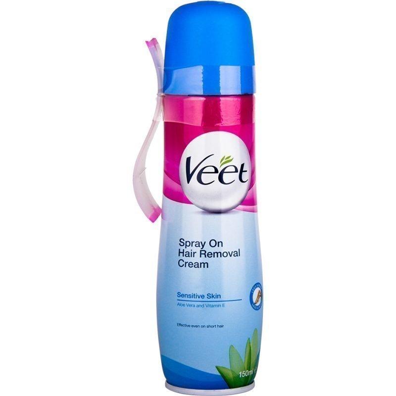 Veet Spray On Hair Removal Cream Sensitive Skin 150ml