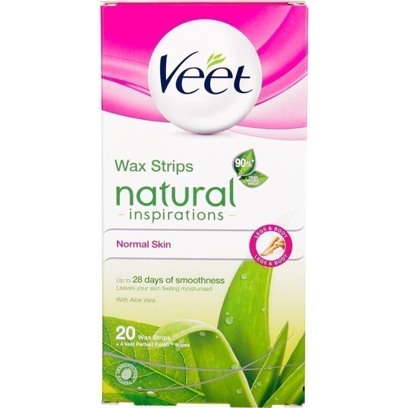 Veet Wax Strips Natural Inspiration Normal Skin 20 Wax Strips