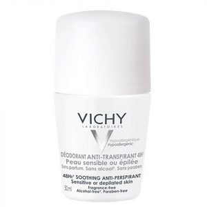 Vichy Deodorant 48hour Sensitive Skin Anti-Perspirant Roll On 50 Ml