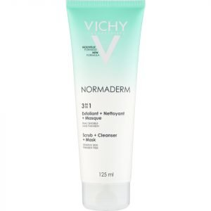 Vichy Normaderm 3-In-1 Cleansing + Scrub + Mask 125 Ml