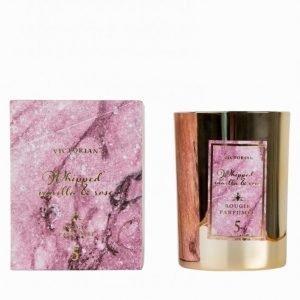 Victorian Candles Marble Whipped Vanilla & Rose Tuoksukynttilä Vaaleanpunainen
