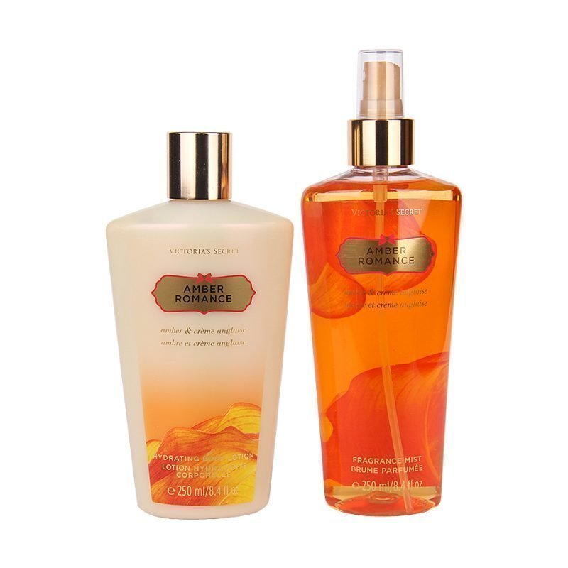 Victoria's Secret Amber Romance Duo Body Mist 250ml Body Lotion 250ml