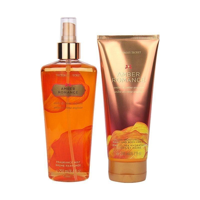Victoria's Secret Amber Romance Duo Body Mist 250ml Hand & Body Cream 200ml