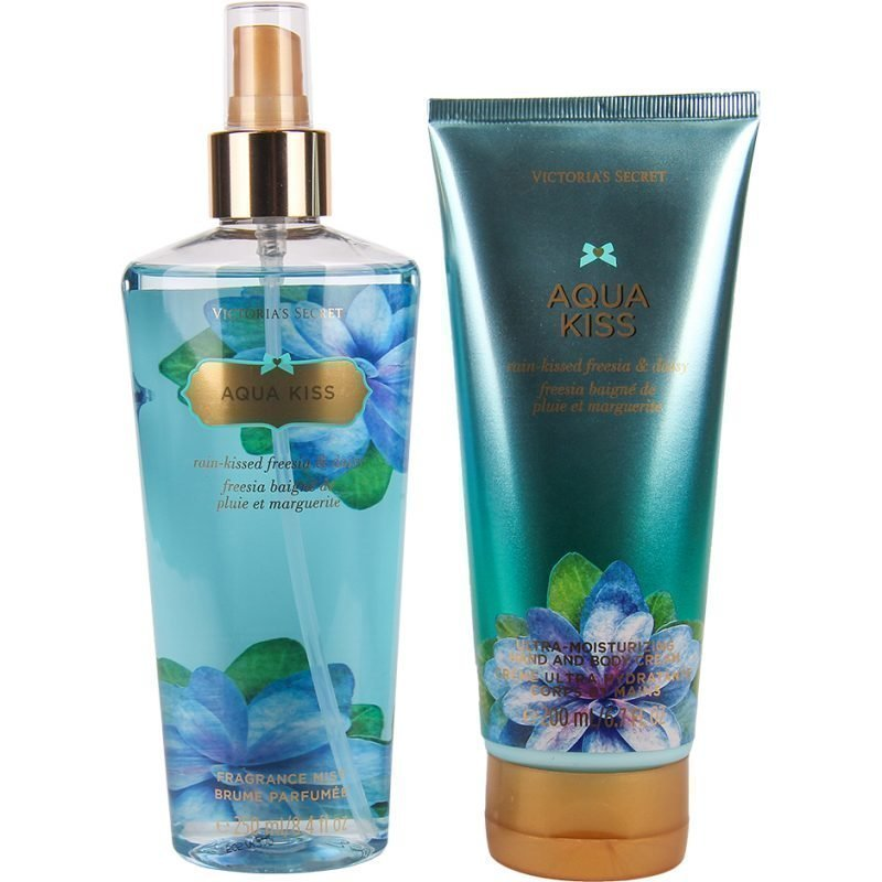 Victoria's Secret Aqua Kiss Duo Body Mist 250ml Hand & Body Cream 200ml