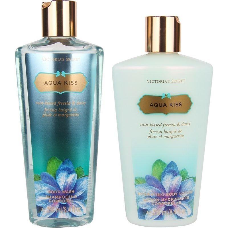 Victoria's Secret Aqua Kiss Duo Body Wash 250ml Body Lotion 250ml