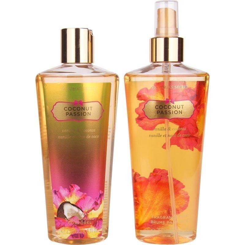 Victoria's Secret Coconut Passion Duo Body Mist 250ml Body Wash 250ml