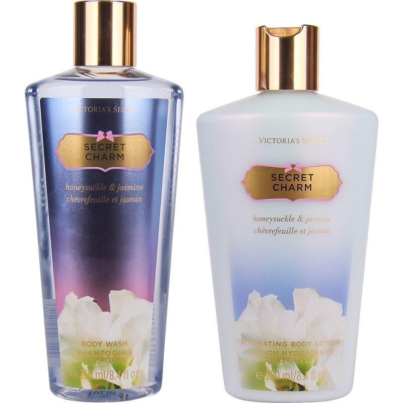 Victoria's Secret Secret Charm Duo Body Wash 250ml Body Lotion 250ml