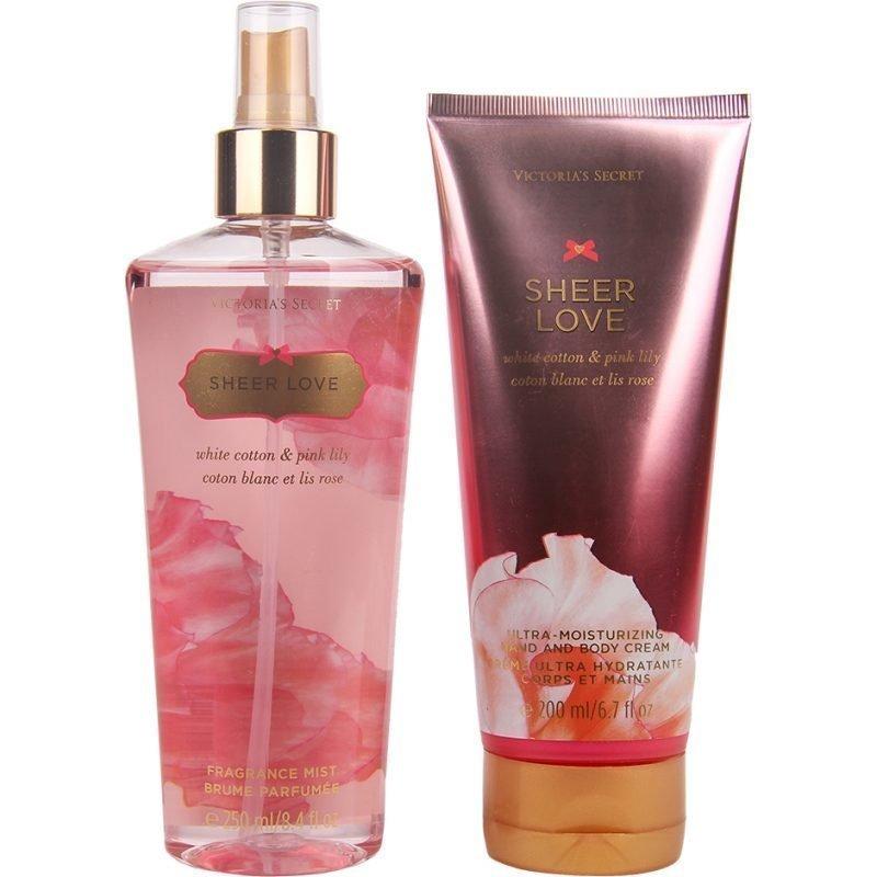 Victoria's Secret Sheer Love Duo Body Mist 250 Hand & Body Cream 200ml