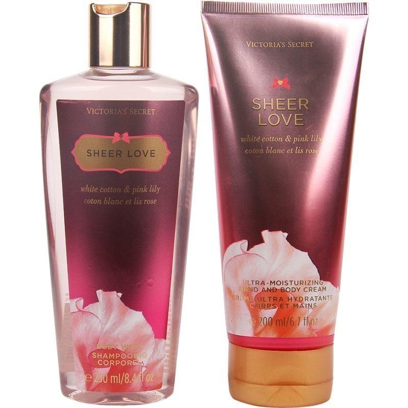 Victoria's Secret Sheer Love Duo Body Wash 250ml Hand & Body Cream 200ml