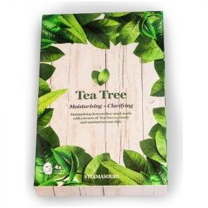 Vitamasques Tea Tree Hydrating Moisturising Mask Box Of 4