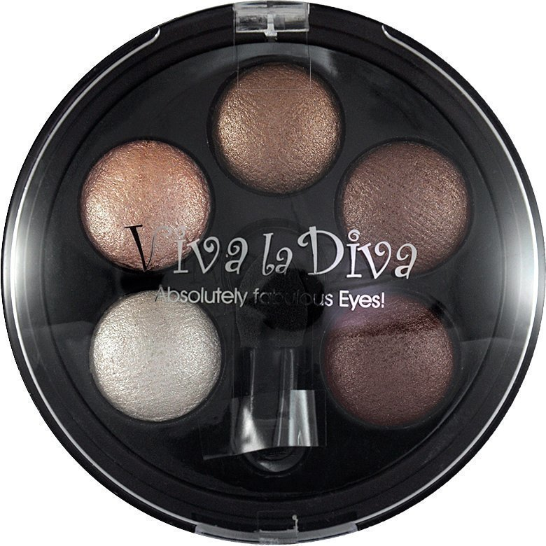 Viva la Diva Eyeshadow Quintet 2 Golden Eyes Brown 5g