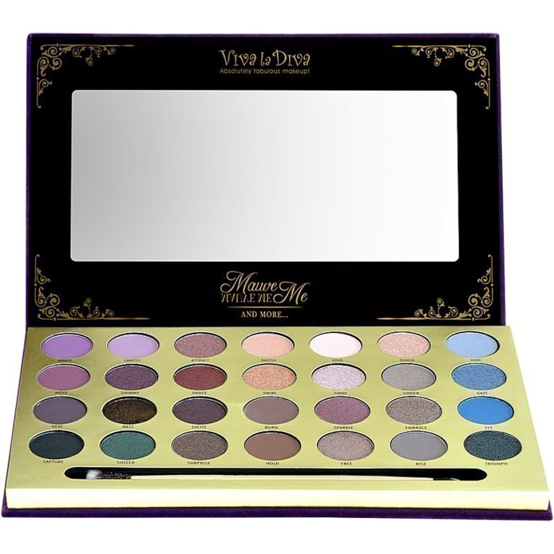 Viva la Diva Mauve Me Eyeshadow 28 Matte & Highpearl Eyeshadows