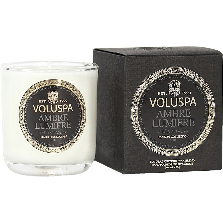 Voluspa Ambre Lumiere Classic Maison Boxed Votive Candle 85g