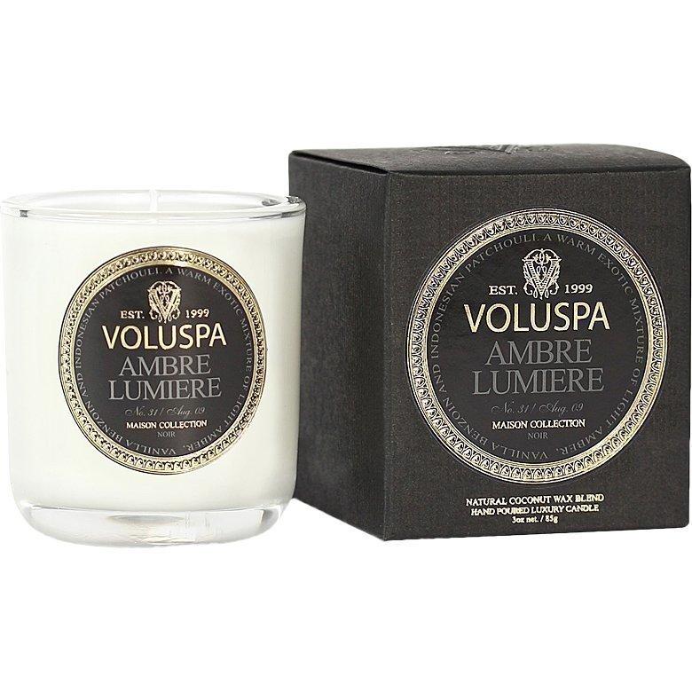 Voluspa Ambre Lumiere Classic Maison Boxed Votive Candle 85g