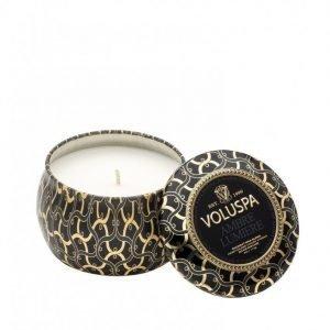 Voluspa Ambre Lumiere Decorative Tin Candle Tuoksukynttilä Valkoinen