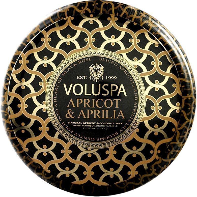 Voluspa Apricot & ApriliaWick Maison Metallo Candle 312g