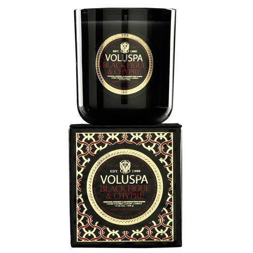 Voluspa Apricot & Coconut Wax Blend Perfumed Candle Black Figue & Chypre
