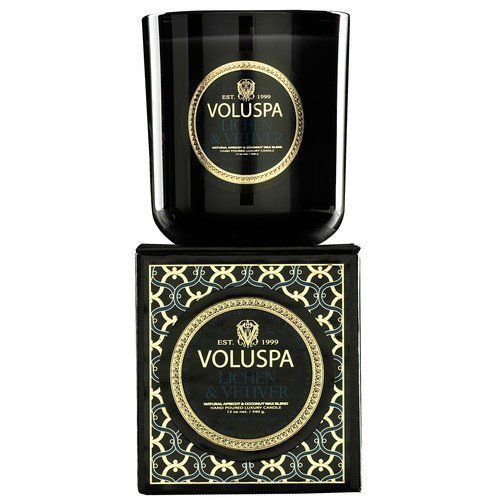 Voluspa Apricot & Coconut Wax Blend Perfumed Candle Lichen & Vetiver