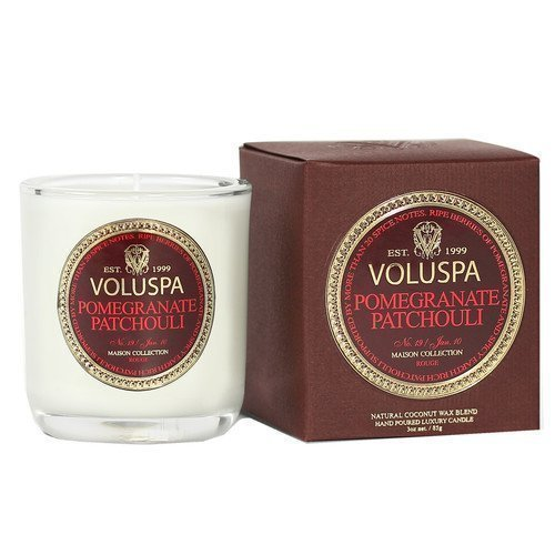 Voluspa Apricot & Coconut Wax Blend Perfumed Candle Pomegranate Patchouli 85 g